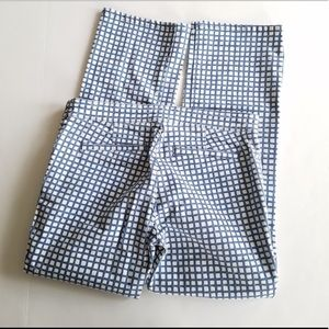 Tory Burch Pants - Tory Burch Blue Grid Cropped Pant Size 28